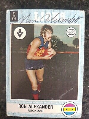 AU9.99 • Buy Fitzroy Lions Afl Signed Card Ron Alexander