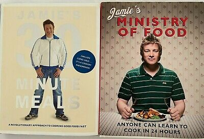 AU29.99 • Buy Jamie Oliver's 30 Minute Meals And Ministry Of Food Hardcover Cookbooks