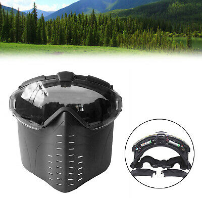 $27.58 • Buy Goggle Military Full Face Tactical Mask With Fan Hunting Safety SA
