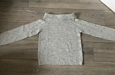 Girl's H&M Grey Off-the-Shoulder Jumper (11-12 Years) BRANDNEW WITHOUT ITS TAGS! • 1£