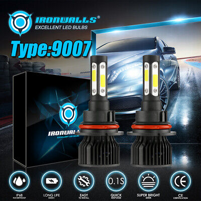 $45.98 • Buy Pair 9007 HB5 LED Headlight Bulbs Conversion Kit High Low Beam 6000K Super White