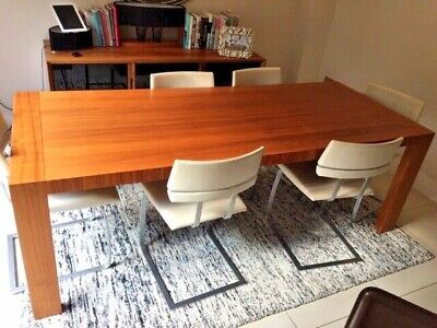 £350 • Buy Calligaris Walnut Veneer Extendable Table