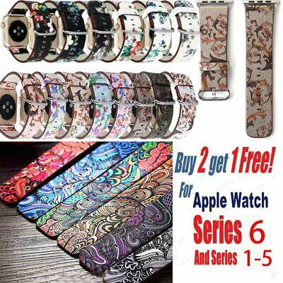 AU13.39 • Buy Colorful Leather For Apple Watch Strap Band Series 6 5 4 IWatch Strap 40mm 44mm