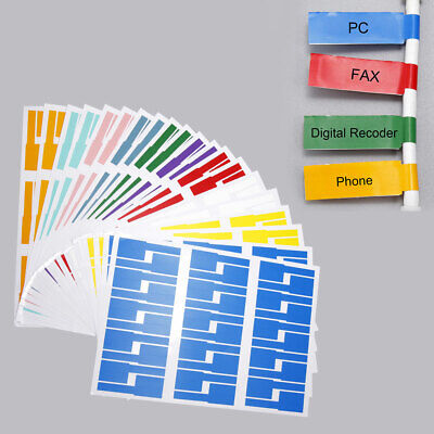 £9.49 • Buy 600PCS 20 Sheets Cable Wire Labels Tags Markers Wire Marking Organizing