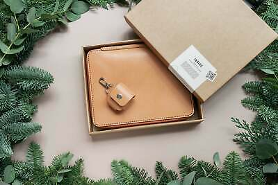 $195 • Buy Christmas Leather Gift Set. IPad Folio And AirPods Leather Case Set. FREE DHL...