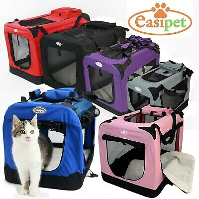 £27.99 • Buy Fabric Dog Crate Cat Puppy Pet Carrier Travel Portable Kennel Cage House Easipet