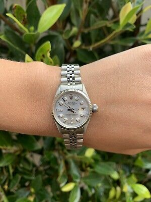 $ CDN4507.77 • Buy Ladies Rolex Oyster Perpetual Datejust Watch 6517 26mm Silver