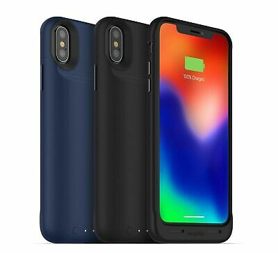 £19.95 • Buy MOPHIE IPhone XS/X Juice Pack Air Wireles Battery Charging Case Cover Black/Blue