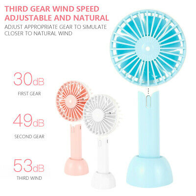 AU12.99 • Buy Portable Mini USB Desk Fan Small Quiet Personal Cooler USB Powered Table  NEW
