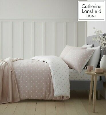 £14.39 • Buy Catherine Lansfield  Dotty Brushed Cotton  Flannelette Bedroom Collection Blush