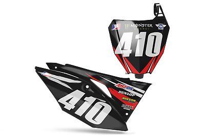 $59.95 • Buy New Dirtx Industries Rockstar Number Plate Graphics Cr Crf 125 150 250 450 500