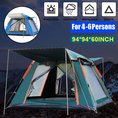 AU81.99 • Buy 4-6 Person Automatic Open Pop Up Tent Anti-UV Waterproof Camping Outdoor Tent AU
