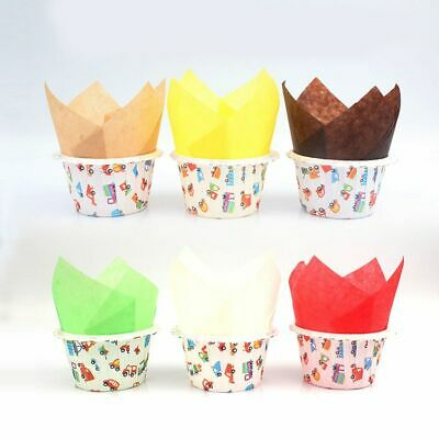 £3.06 • Buy 50Pcs Cupcake Wrapper Liners Muffin Case Baking Greaseproof Paper Party Supplies