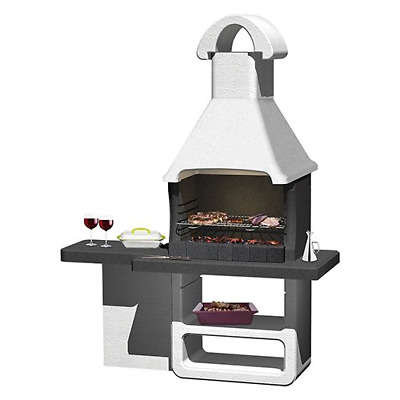 £834.88 • Buy Berlin Refractory Concrete Masonry Barbecue With Hood And Grill 170x64x219.5 Cm
