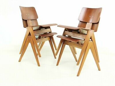 £645 • Buy A Pair Of 1950's Robin Day Hillestak Dining Chairs For Hille