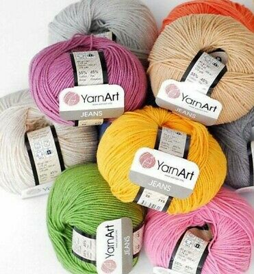 Yarn Art Jeans 50g Single Balls Cotton Acrylic Knitting Crochet Wool Yarn  • 1.49£