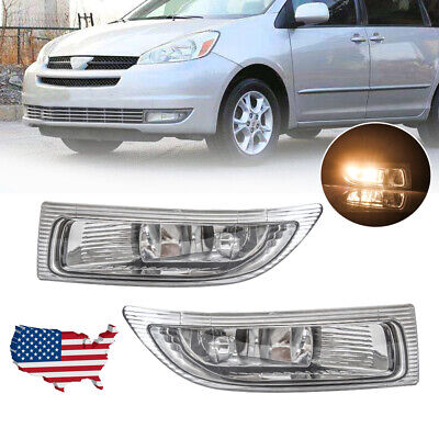 $36.89 • Buy Front Fog Light For 2004-2005 Toyota Sienna Driving Lamps Clear Lens Left+Right