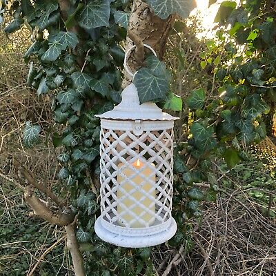£15.99 • Buy Vintage Style Moroccan Metal Lantern Off White Garden/home Decor Candle Holder