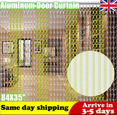 Chain Curtain Aluminum Door Curtain Metal Anti-Mosquito Chain Fly Screen Insect • 33.99£
