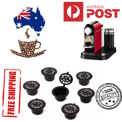 AU15.95 • Buy 5X Refillable Reusable Coffee Filter Capsule Pods For Nespresso Maker Machine