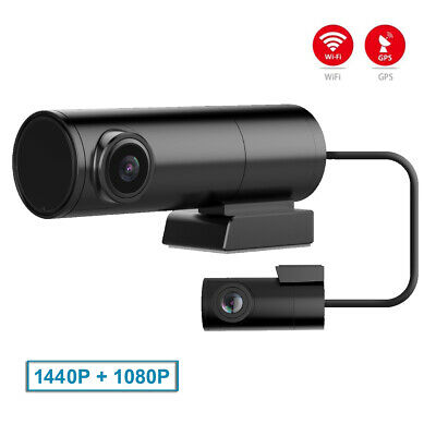 AU137.80 • Buy Mini Car DVR Dual Cameras For Front And Rear WiFi GPS  DashCam Video Recorder 2K