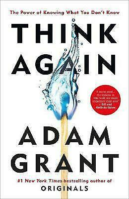 AU30.15 • Buy NEW Think Again: The Power Of Knowing What You Don't Know By Adam Grant Book AU