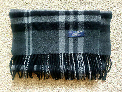 £80 • Buy Burberry 100 % Cashmere Scarf. Used, Excellent Condition. Colour Charcoal/black.