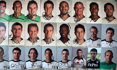 £19.99 • Buy 24 Signed 6x4 Photos Fulham FC Clint Dempsey Damien Duff Patrick Roberts Nevland