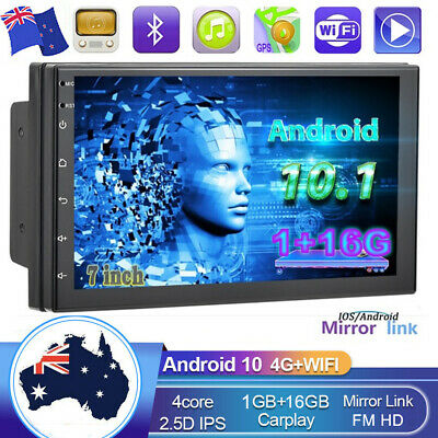 AU134.99 • Buy 7  Android 10.1 Double 2 DIN GPS Car Stereo Head Unit FM MP5 Player WiFi BT USB