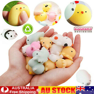 AU33.79 • Buy 50x Cute Mini Animal Squishies Kawaii Mochi Squeeze Toys Stretch Stress Squishy