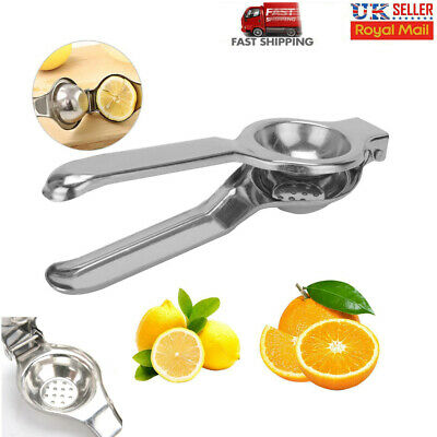 Stainless Steel Home Kitchen Lemon Lime Squeezer Juicer Manual Hand Press Tool • 4.49£