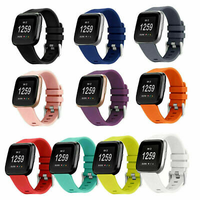 $ CDN4.95 • Buy For Fitbit Versa 2/Versa Lite Replacement Silicone Sport Watch Band Strad Buckle