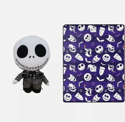 £14.33 • Buy 2pc The Nightmare Before Christmas Jack Skellington Throw And Pillow   New