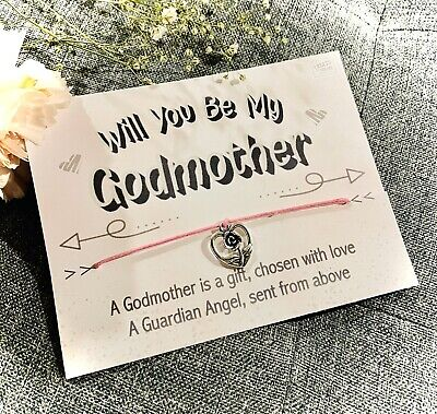 £3.99 • Buy 🎀 WILL YOU BE MY GODMOTHER, Gift For Her, Christening, Godparent Baby, Bracelet