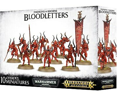 AU52.49 • Buy Warhammer 40K / Age Of Sigmar Daemons Of Khorne Bloodletters 97-08