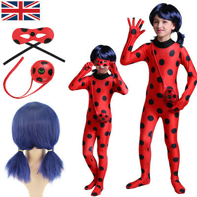 Cosplay Costume Kids Girls Miraculous Ladybug Jumpsuit Outfits Tight Fancy Dress