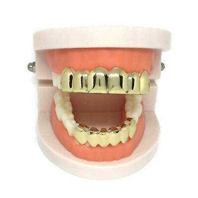 £8.99 • Buy Self-Fitting Full Grills L FREE UK POST L Gold Silver Grillz Gangster Tooth Cap