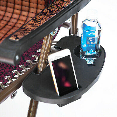 £9.99 • Buy 2X Clip On Side Table Tray Cup Holder For  Sun Lounger/Camping Chair Outdoor UK