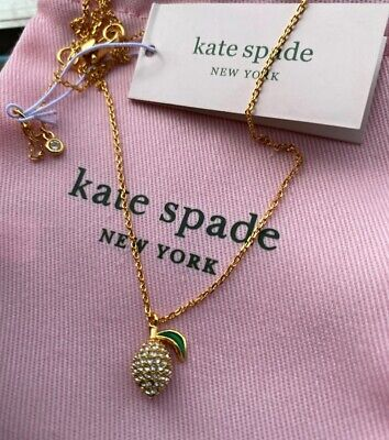 $ CDN31.57 • Buy Kate Spade Picnic Perfect Paved Shaped Lemon Pendent Necklace