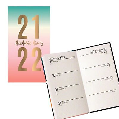 £2.99 • Buy 2021 2022 Academic Slimline Week To View Student Diary 3191 - Foil Date