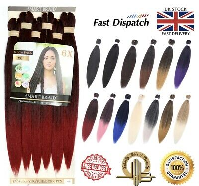 £12.99 • Buy 6 In Pack 28  Long Pre-Stretched Pre-Pulled Braiding Hair Better Than Xpression