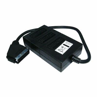 £4.49 • Buy  1 To 3 Scart Socket Switch 3way Scart Lead Splitter 3 Devices Out To 1 Tv Input