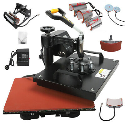 AU329.79 • Buy Heat Press Sublimation Machine 8 IN 1 Heat Press Machine For T-Shirts Cap Plate
