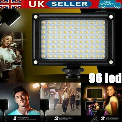 DSLR Camera Camcorder 96LEDs Video Light Lamp Lighting Panel For Canon Nikon • 12.59£