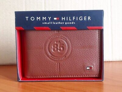 £17.99 • Buy Mens Leather Wallet 'Tommy Hilfiger' BROWN, Bifold, Cards Slots, Pass Case