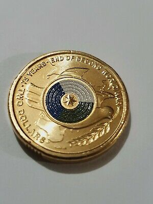 AU9.50 • Buy 2020 $2 DOLLAR 75th ANNIVERSARY END WWII COLOURED UNC COIN FROM Security Roll