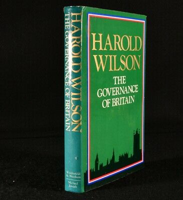 £123.50 • Buy 1976 The Governance Of Britain Signed Harold Wilson 1st Edition
