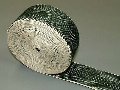 £8.95 • Buy 10 Meters Traditional Extra Strong Black & White Webbing - Upholstery Supplies