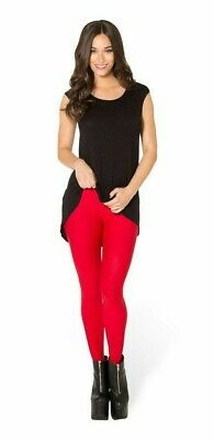AU64 • Buy Black Milk BNWT MATTE RED STIRRUP LEGGINGS XS - ACE BACK-2-THE-80s MUSEUM PIECE❤