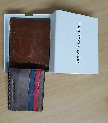 £15.95 • Buy Men's Leather Wallet 'Tommy Hilfiger'  Billfold Wallet Black With Gift Box